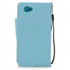 Stylish Protective PU Leather Case for Sony Xperia Z1 Mini / Xperia Z1S / Xperia Z1 f / D5503 - Blue