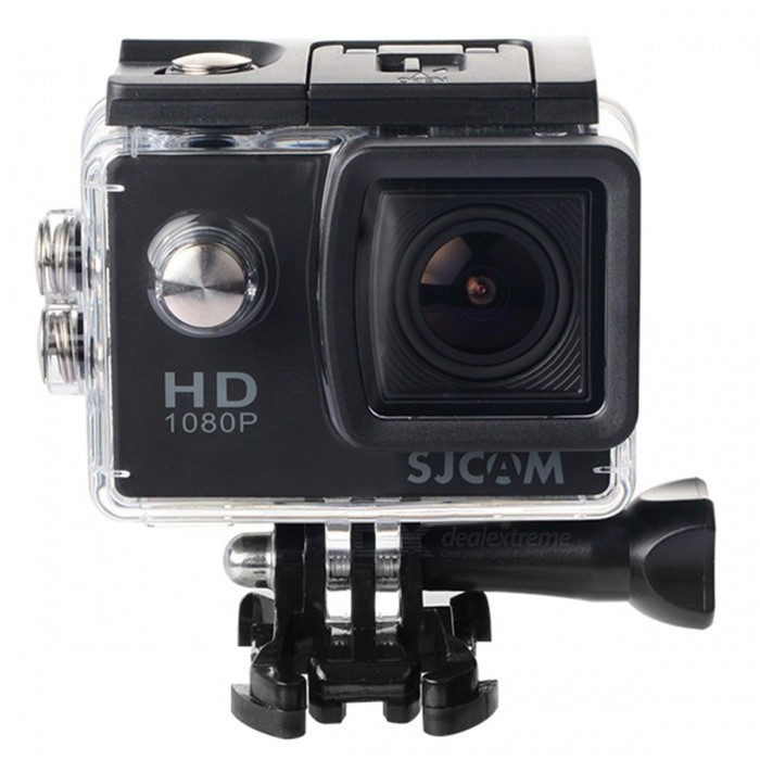 SJCAM SJ4000 1.5 TFT 12.0 MP 2/3 CMOS 1080P Full HD Outdoor Sports Digital Video Camera - Black - DXSport Cameras<br>This product has the industry-leading functions of digital video recording shooting voice recording and video displaying; Waterproof; Can be used in driving recording outdoor sports and home security; Allows you shooting at anytime anyplace; A waterproof shell is included convenient for you to record the wonderful moments of water sports the shell is 30m depth waterproof; Ultra HD display screen can display and replay the recording videos. Detachable battery is convenient to be replaced and thus can extend lifetime of device; With functions of charging and recording at the same time plug-in recording HDMI output and web camera; 12MP HD wide-angle lens; Supports memory card up to 32GB; Multiple video recording formats: 1080P 720P WVGA; MOV format video recording; Multiple recording modes: single shooting auto continuous shooting; Video gear locking; Super mini appearance.<br>