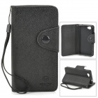 Protective PU Leather Case for Sony Xperia Z1 Mini / Xperia Z1 f / D5503 - Black