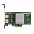 Winyao WY580-T2 PCI-e X4 Dual Port Gigabit Server Network Card Adapter - Green