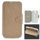MUHE MH-i95001 Protective PU Leather + Silicone Case for Samsung i9500 - Bronze + White