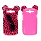 CM Leopard Print Pattern Protective Plastic Case w/ Tail for Samsung Galaxy S3 i9300 - Deep Pink