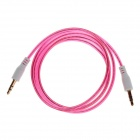 3.5mm Male to Male Audio Cable - Deep Pink (105cm)