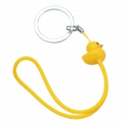 Sp-020 lovely duck style multi-function super elastic wrist strap - yellow + silver
