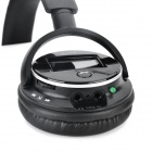 B380 1.4'' LCD Stereo Bluetooth V3.0 Headphone w/ Microphone / TF / FM - Black