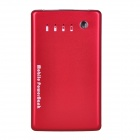 Ultrathin 8600mAh Dual-USB Mobile Power Source Bank for iPhone / Samsung + More - Sliver + Red