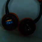 "B380 1.4"" LCD BluetoothV3.0 Headset w/ TF Card Slot + FM Radio - Black"