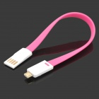 S-What Magnetic USB to Micro USB Data/Charging Cable for Xiaomi / Samsung / HTC / Google - Deep Pink