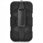 Protective Hard Plastic + Silicone Back Case w/ Clip for Samsung Note 3 N9000 - Black