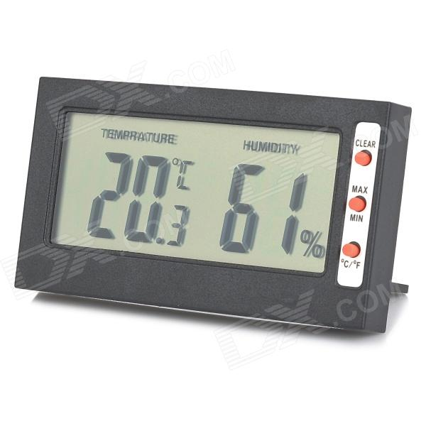 Multifunction 3 LCD Digital Hygrometer & Thermometer embedded 1 5 lcd digital hygrometer thermometer for cigar humidor white 2 x ag13
