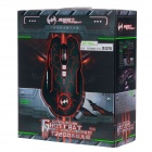 BATKNIGHT Santo Bat T3200 400-4000dpi colorido Glare USB Wired Gaming Mouse - Preto + Prata