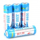 "TRUSTFIRE Rechargeable ""3200mAh"" AA Ni-MH Batteries Set - Silver + Blue (4 PCS)"