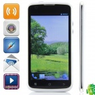 "A673W(Beyond_B800) MTK6575 Android 4.0.4 WCDMA Bar Phone w/ 4.5"", Wi-Fi, FM  - White + Black"