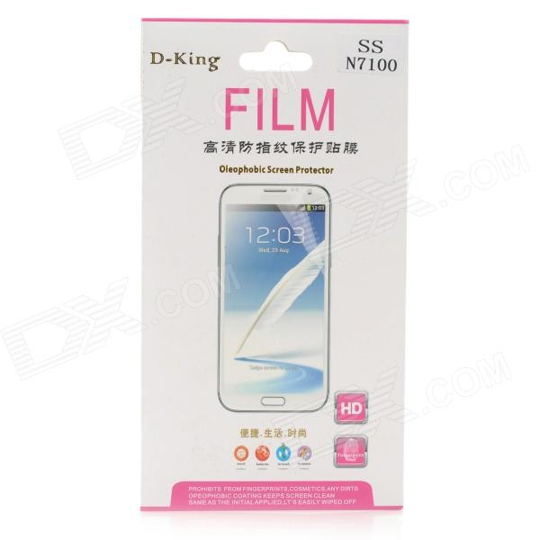 D-King Protective Clear Screen Protector for Samsung Galaxy Note 2 N7100 - Transparent newtop protective clear screen protector guard film for samsung galaxy note 2 n7100 transparent