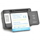 1500mAh Li-ion Battery + US Plug LCD USB Output Power Adapter + EU Plug Converter for Samsung i9000