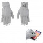 YFY-LYST02 Bluetooth v3.0 Gloves w/ Microphone for Capacitive Screen - Grey + Yellow (Pair)