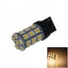 7443 / 7440 / T20 6W 300lm 27 x SMD 5050 LED Warm White Car Steering / Brake / Backup Light - (12V)