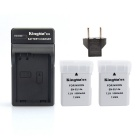 EL14A KIT 2 Batteries + Charger for Nikon D3100 D3200 D5100 D5200 D5300 P7800 D3300-NEW