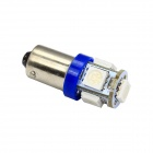 Merdia BA9S 1W 80lm 5 x SMD 5050 LED Blue Car Indicator Light / Instrument / Clearance Lamp - (12V)