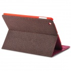 Universal Protective PU + Plastic Flip Open Case w/ Stand for iPad 2  the New iPad / iPad 4