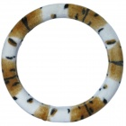 CHIEF Car Autumn Winter Soft Steering Wheel Cover - Brown + White (38cm)