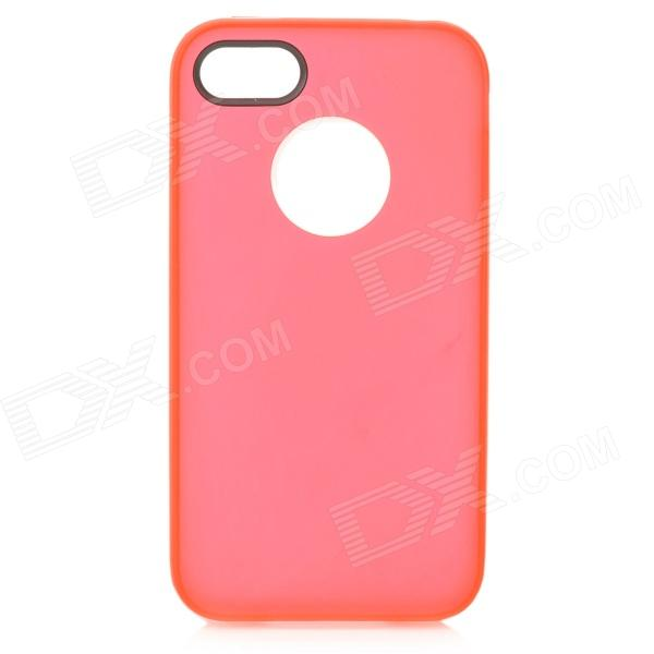 S-What Ultrathin Protective Frosted PC + TPU Back Case for IPHONE 4 / 4S - Red + White cartoon pattern matte protective abs back case for iphone 4 4s deep pink