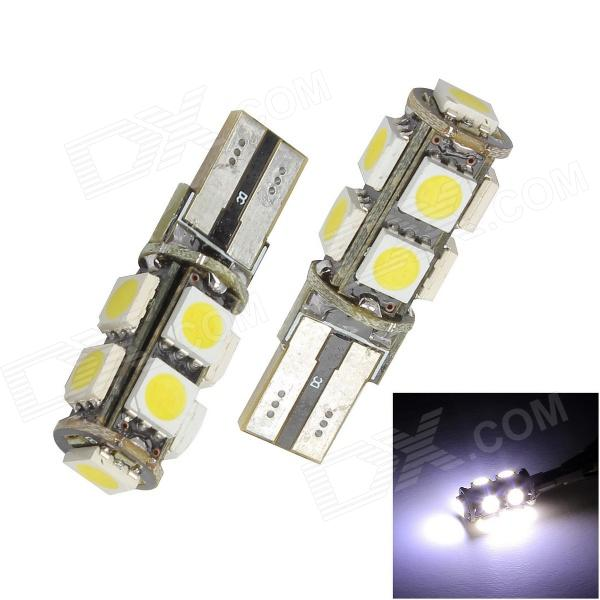 Merdia T10 5W 126lm 9 x SMD 5050 LED Error Free Canbus White Light Car Clearance Lamp (12V / 2 PCS) flytop 10 x t10 canbus 5smd 5050 smd error free car bulb w5w 194 led lamp auto rear light white blue yellow red color can bus