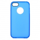 S-What TPU + PC Protective Matte Back Case for IPHONE 4 / 4S - Translucent Blue + White