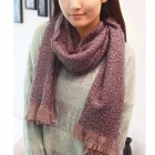 Women's Woolen Yarn Scarf - Purple
