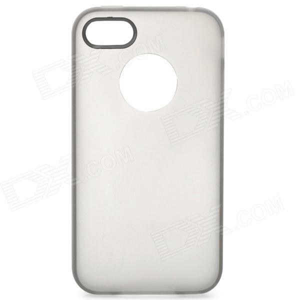 все цены на S-What Ultrathin Protective Frosted PC + TPU Back Case for IPHONE 4 / 4S - Translucent Black + White онлайн