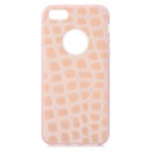 S-What Crocodile Grain Style Protective TPU + PC Back Case for IPHONE 5 / 5S - Pink