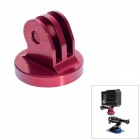 "High Precision CNC Aluminum Alloy 1/4"" Tripod Adapter Mount for GoPro Hero3+/Hero3/Hero2 - Red"