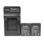 Kingma AHDBT-302.1180mAh Li-polymer Batteries + Charger kits for GoPro3 / GoPro3+ - Black