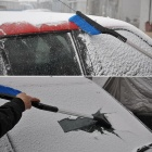Multifunctional Retractable Ice Snow Scraper Tool for Car - Black + Blue