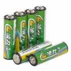 LingLi R6P Disposable Alkaline AA Batteries Set - Dark Green + Yellow