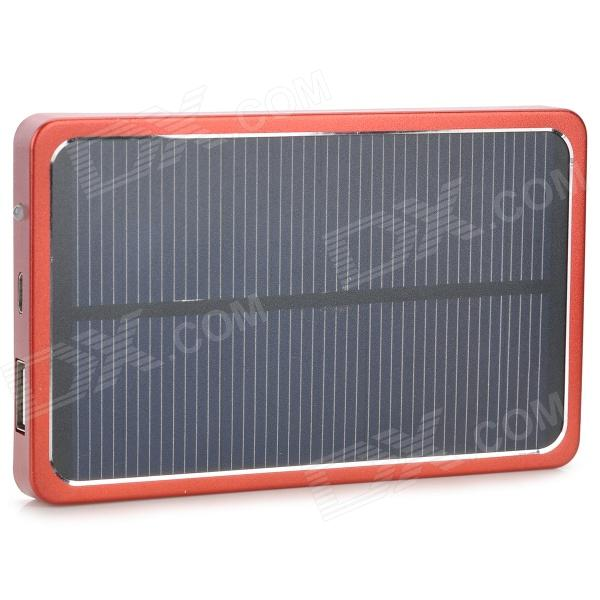 все цены на S-What 3800mAh Portable Solar Battery External Battery Charger Power Bank - Black + Red онлайн