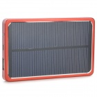 S-What 3800mAh Portable Solar Battery External Battery Charger Power Bank - Black + Red