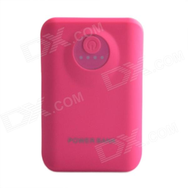 8800mAh Outdoor Dual-USB Power Source Bank for Samsung / Phone / LED Light Indicator - Deep Pink itian portable universal 5v 9000mah li ion battery dual usb power bank white light pink
