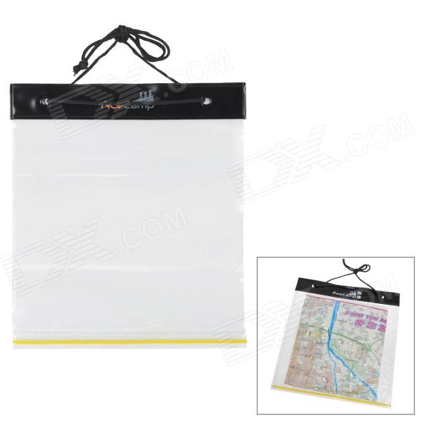 AceCamp 1801 Waterproof PVC Map Bag - Translucent White + Black