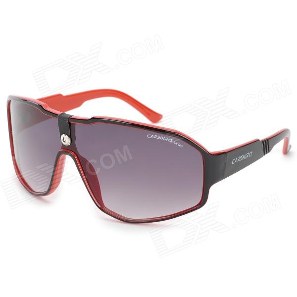 CARSHIRO C1215 Resin Lens Plastic Frame UV400 Protection Sunglasses - DXSunglasses<br>Resin with thick lenses UV400 100% uv protection; To the outside world messy radiation light scatter light the wave light filtering into soft point-blank light so that they no longer harm the glasses.A integrated nose non-slip comfort gather the perfect of human body engineering technology. Suitable for driving hiking skiing travel etc. All kinds of outdoor sports.<br>