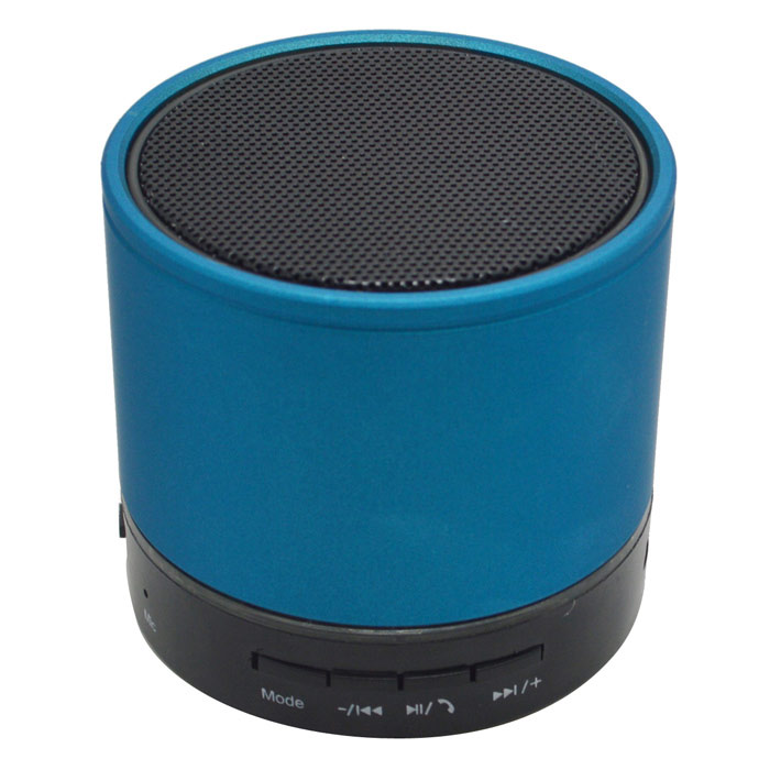 S08U Portable 3W Bluetooth 3.0 Stereo Speaker w/ Mic, 3.5mm, FM - Blue