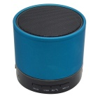 S12 Portable 3W Bluetooth V3.0 Stereo Speaker w/ Mic / 3.5mm Jack / TF /FM - Blue