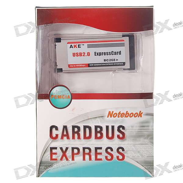 USB 2.0 ExpressCard/34mm Extension Card for Laptops