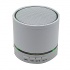 S08 Portable 3W Bluetooth V3.0 Stereo Speaker w/ Mic / 3.5mm Jack / TF / FM - White