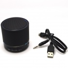Portable 3W Bluetooth V3.0 Stereo Speaker w/ Mic,3.5mm, TF, FM - Black