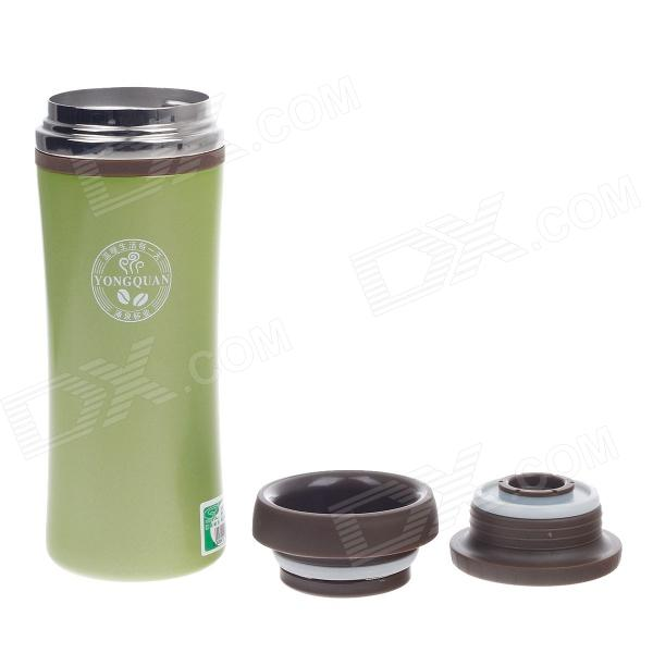 YONGQUAN YQH11-028 Stainless Steel Vacuum Cup - Green (330mL)
