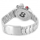 BARIHO H331 Fashion Sports Quartz Stainless Steel Wristband Watch for Men - Red
