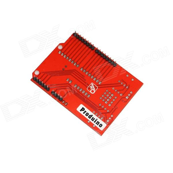 Produino motor driver board expansion module w led