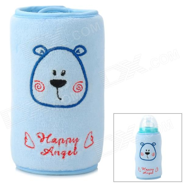 Bain treasure 7770 Bear Pattern Feeding Bottle Insulation Warm Cover - Blue + Red