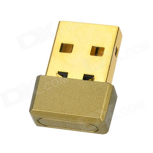 SL-1509A Super Mini 150Mbps USB2.0 Wireless LAN Network Card - Golden